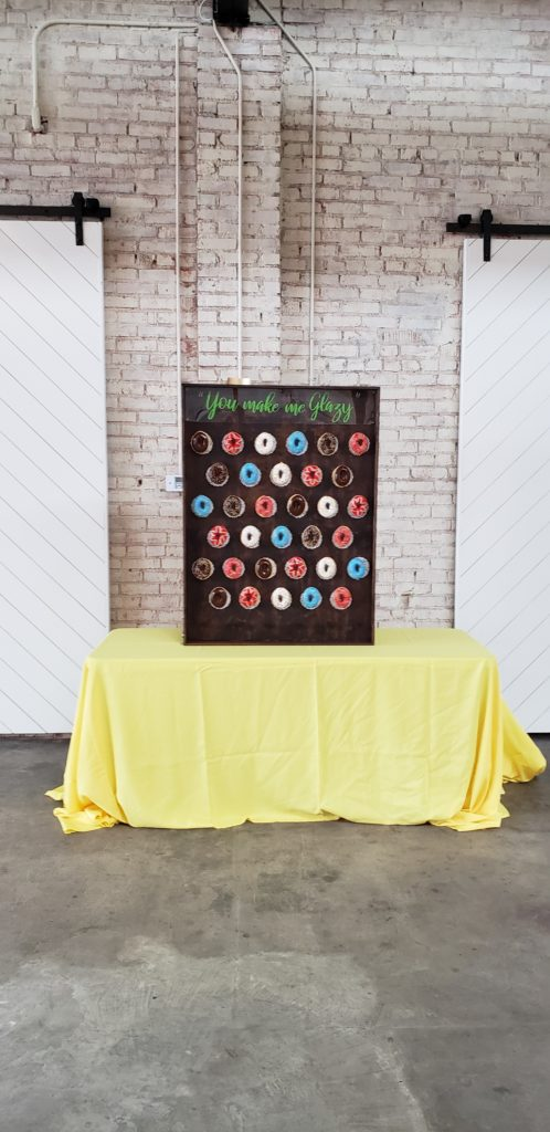 Doughnut wall wedding special party catering
